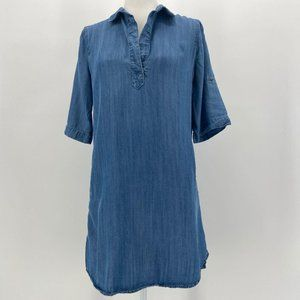 Philosophy Denim Chambray Tencel Shirt Dress Small